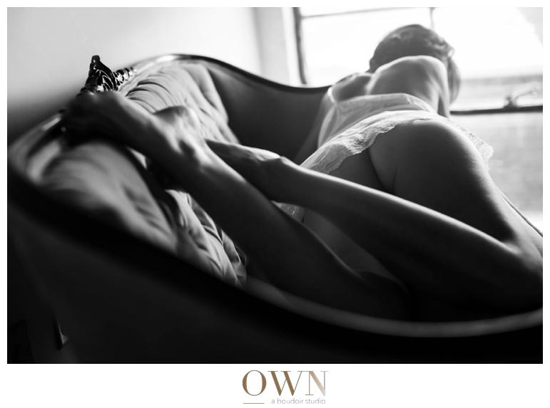 boudoir tufted couch atlanta photographer boudoir session slip white lace