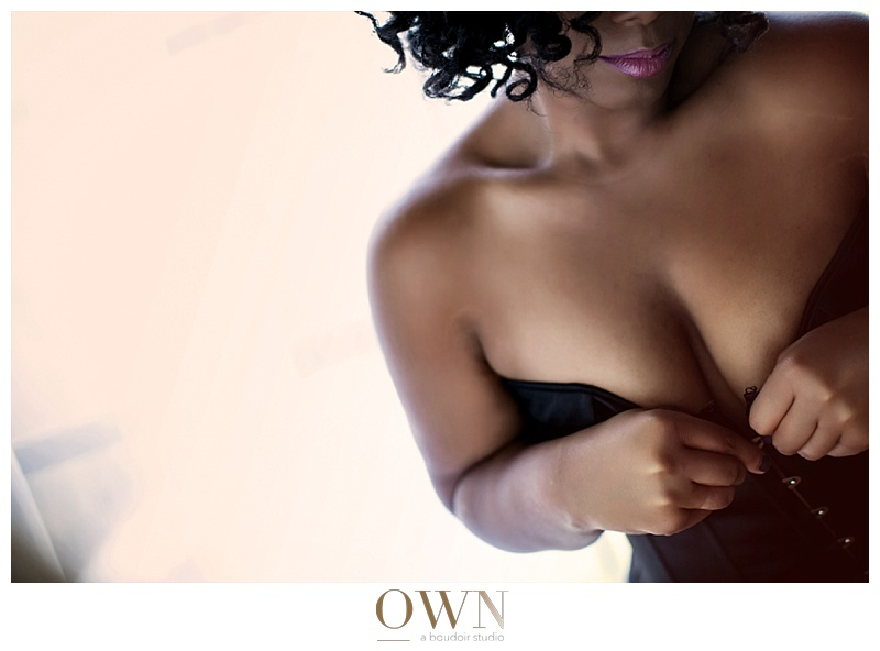 own boudoir atlanta black woman boudoir