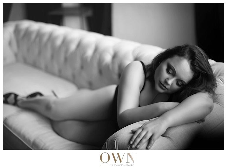 black and white boudoir curvy hips booty sensual photographer atlanta austin los angeles new york