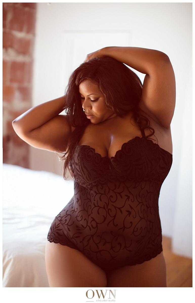 woman in a bodysuit own boudoir atlanta boudoir photographer