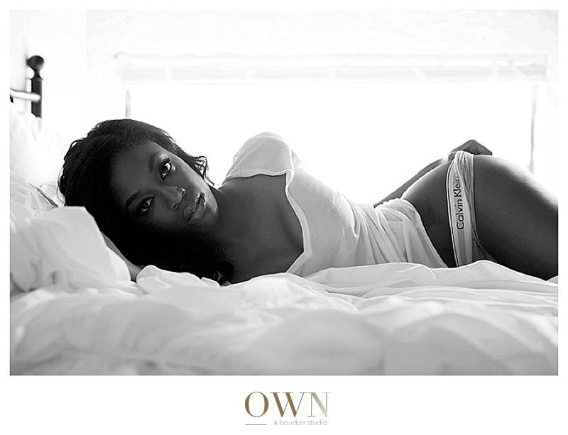 calvin klein underwear african american model atlanta boudoir photography phtogorpahy photographer fashion black and white midtown