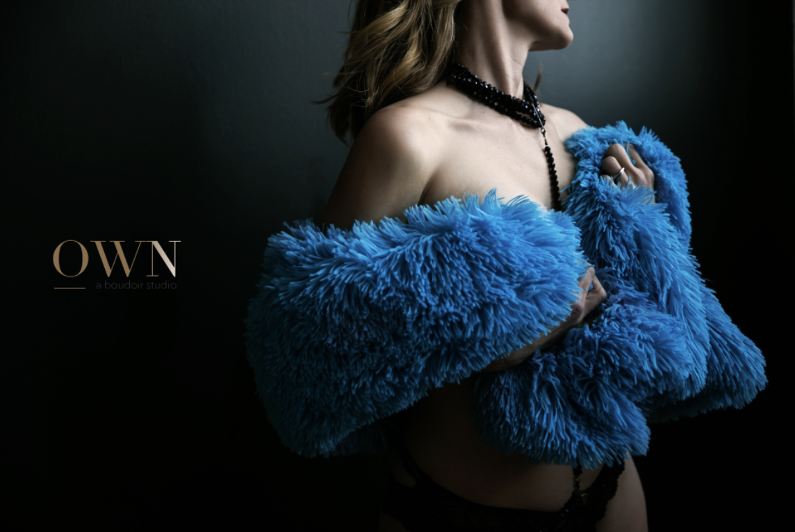 atlanta boudoir, boudoir photographer, atlanta boudoir photography, boudoir session, boudoir wardrobe ideas, blue fur coat