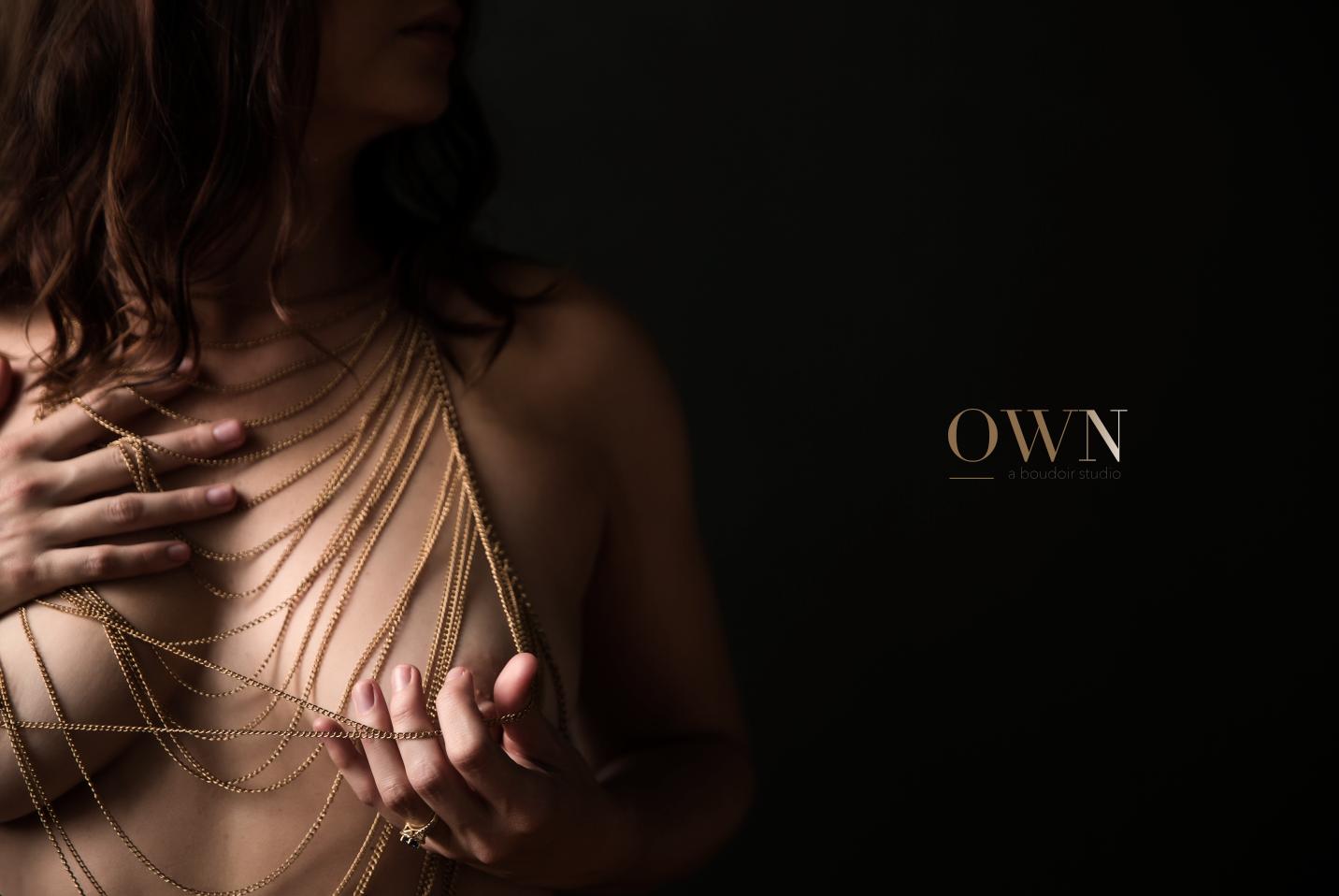 own boudoir, body chain, atlanta boudoir photography