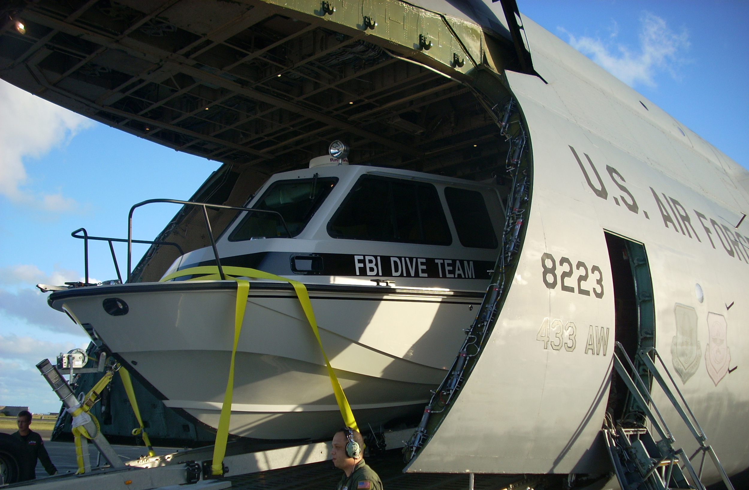 FBI Dive Team Boat (courtesy of FBI)