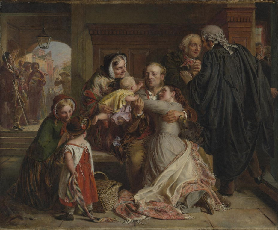 "Not Guilty"" by Abraham Solomon, 1859, Getty's Open Content Program"
