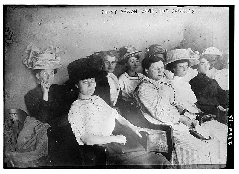 First woman jury, 1911, Los Angeles (image is in the public domain)