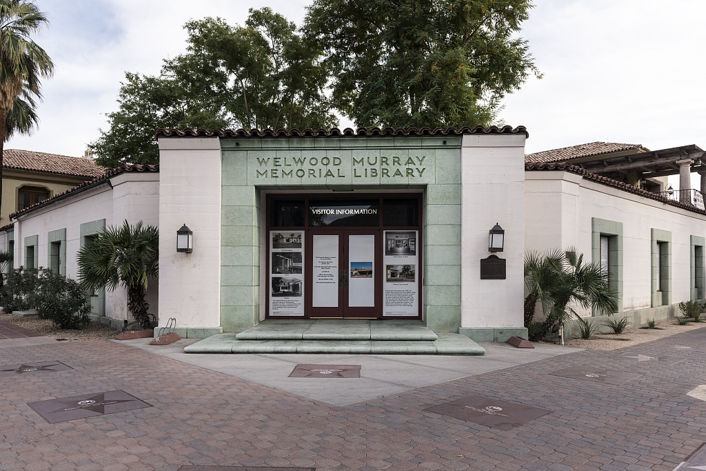 Once the main branch of the Palm Springs, California, public library system, the 1940 Welwood Murray building became a private, non-profit library run by volunteers by Carol Highsmith.jpg