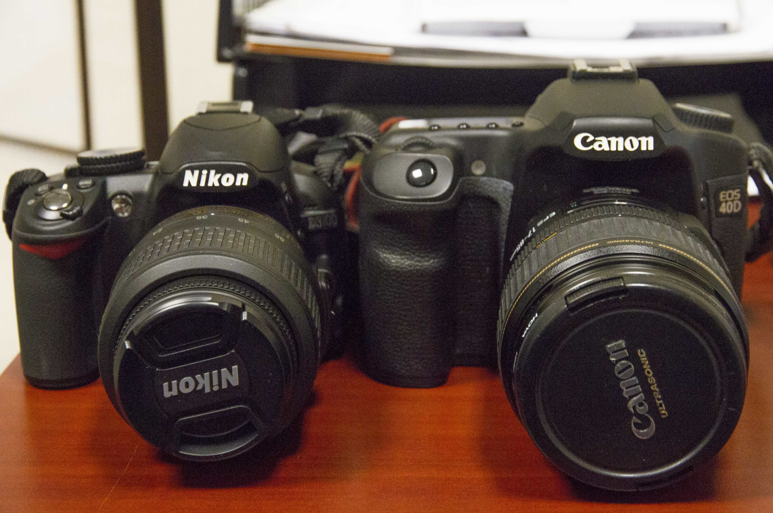 The Nikon D3100 is an entry level camera and the Canon 40D is an intermediate level camera. The models are not equally comparable   © 2013 Stephanie Canarte