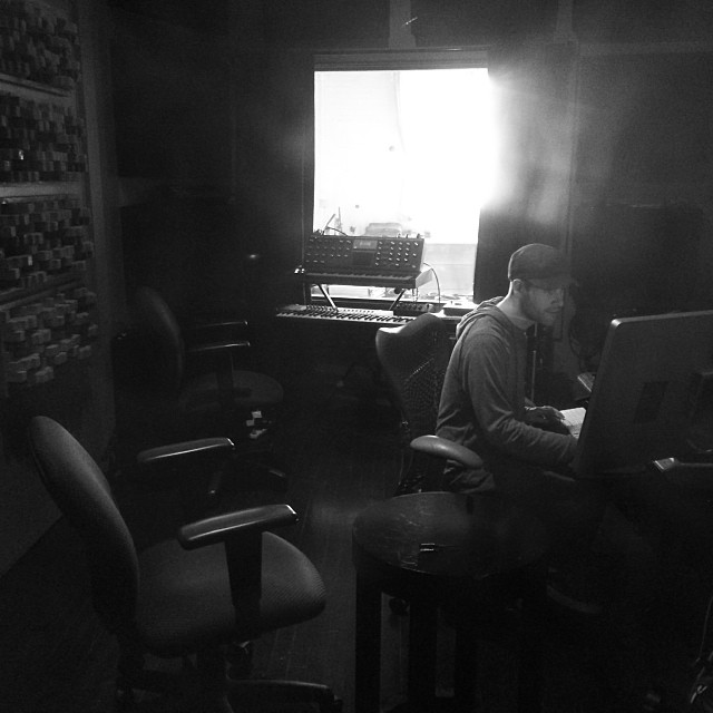 J Declan working on working on his studio tan.