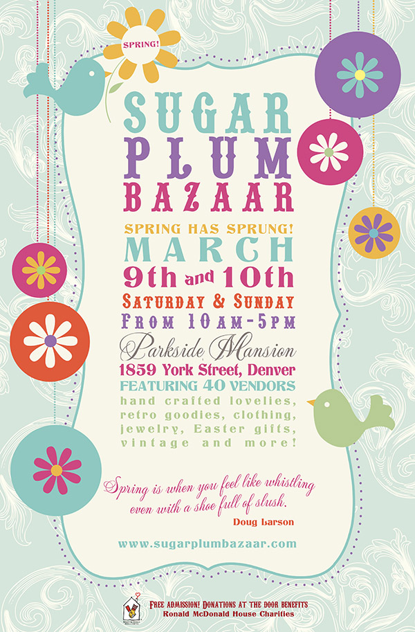 Sugar Plum Bazaar March 9-10, 2013