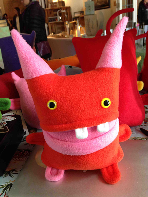 Crazy Orangey guy with awesome pink horns $40