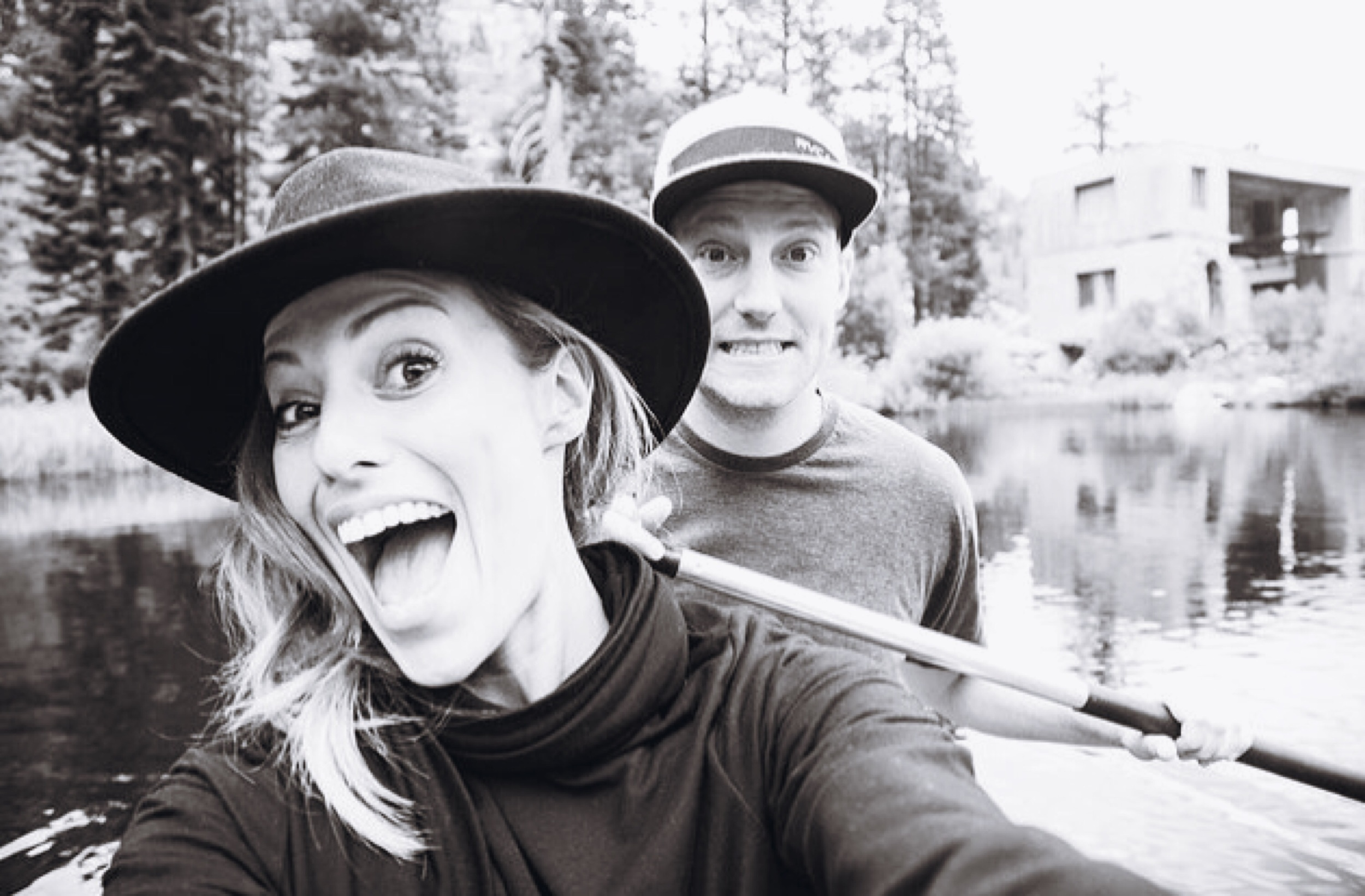 Austin + I canoeing to our next location.