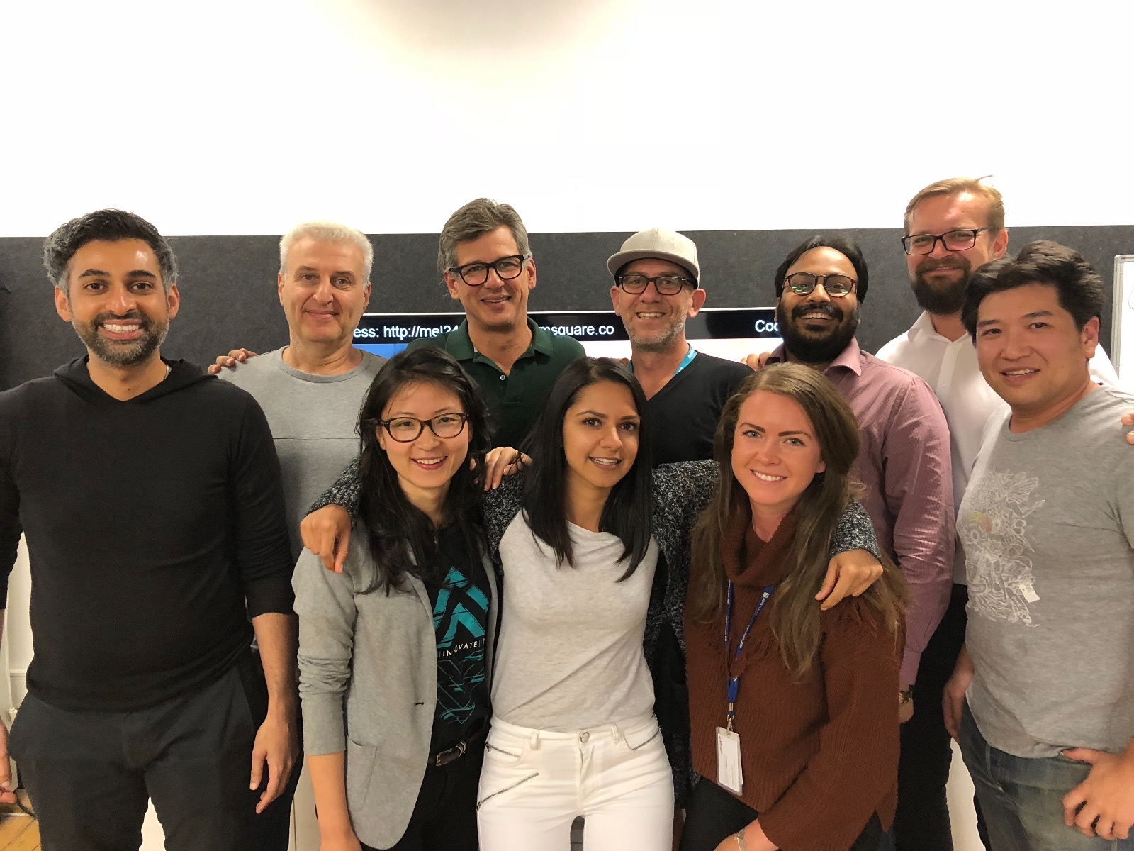 Partial Team photo of Founders, EIR's and IIR's after the Andy Sheats Fireside Chat