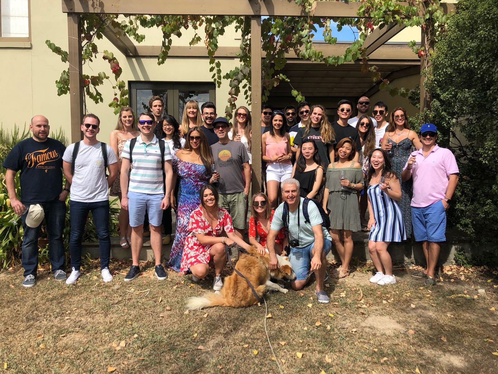Startupbootcamp Energy Aus family on our wine tasting outing to the Yarra Valley