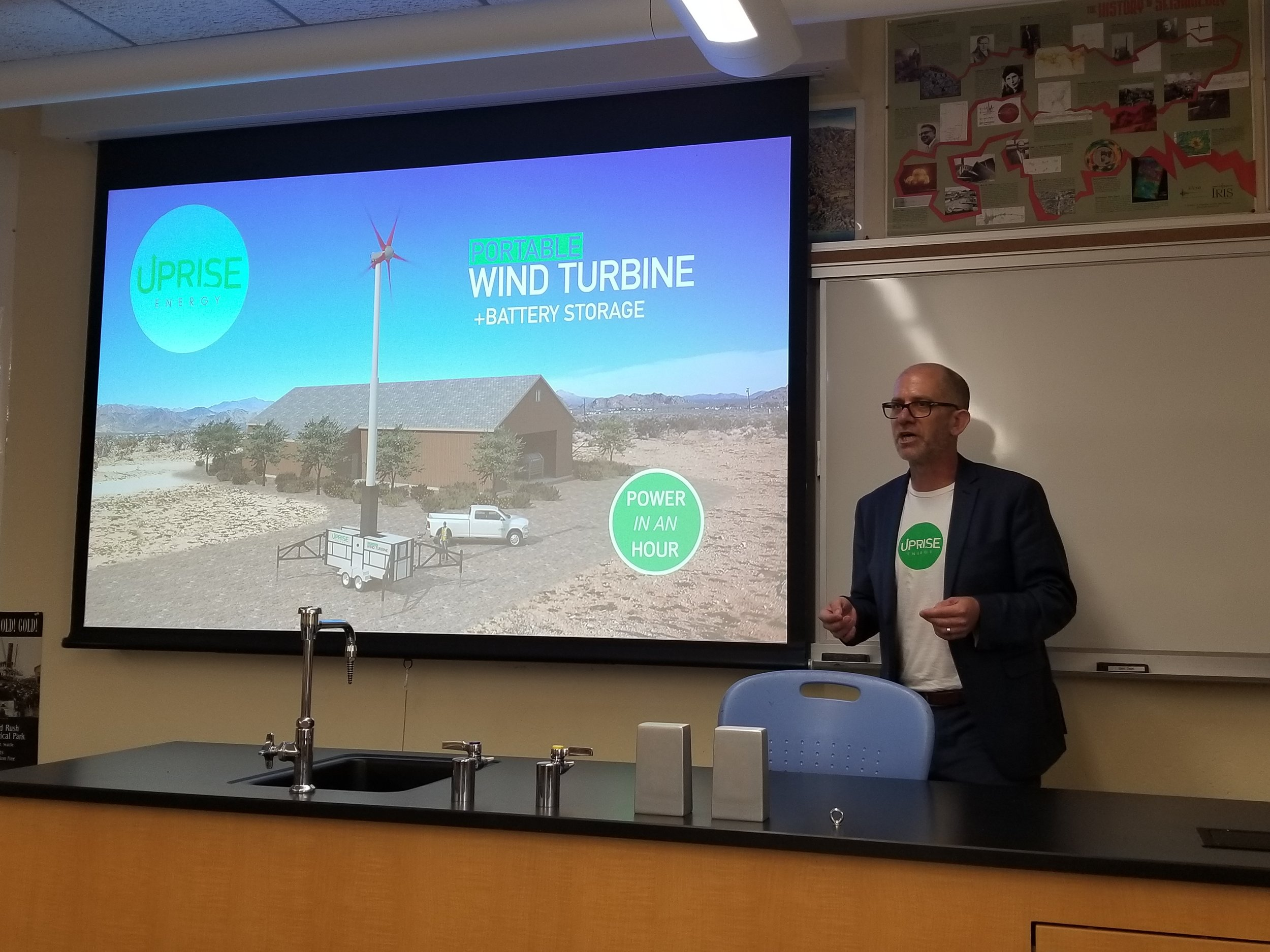 Uprise Cofounder, Jonathan Knight, presenting at Imperial Valley College as a part of the IVES