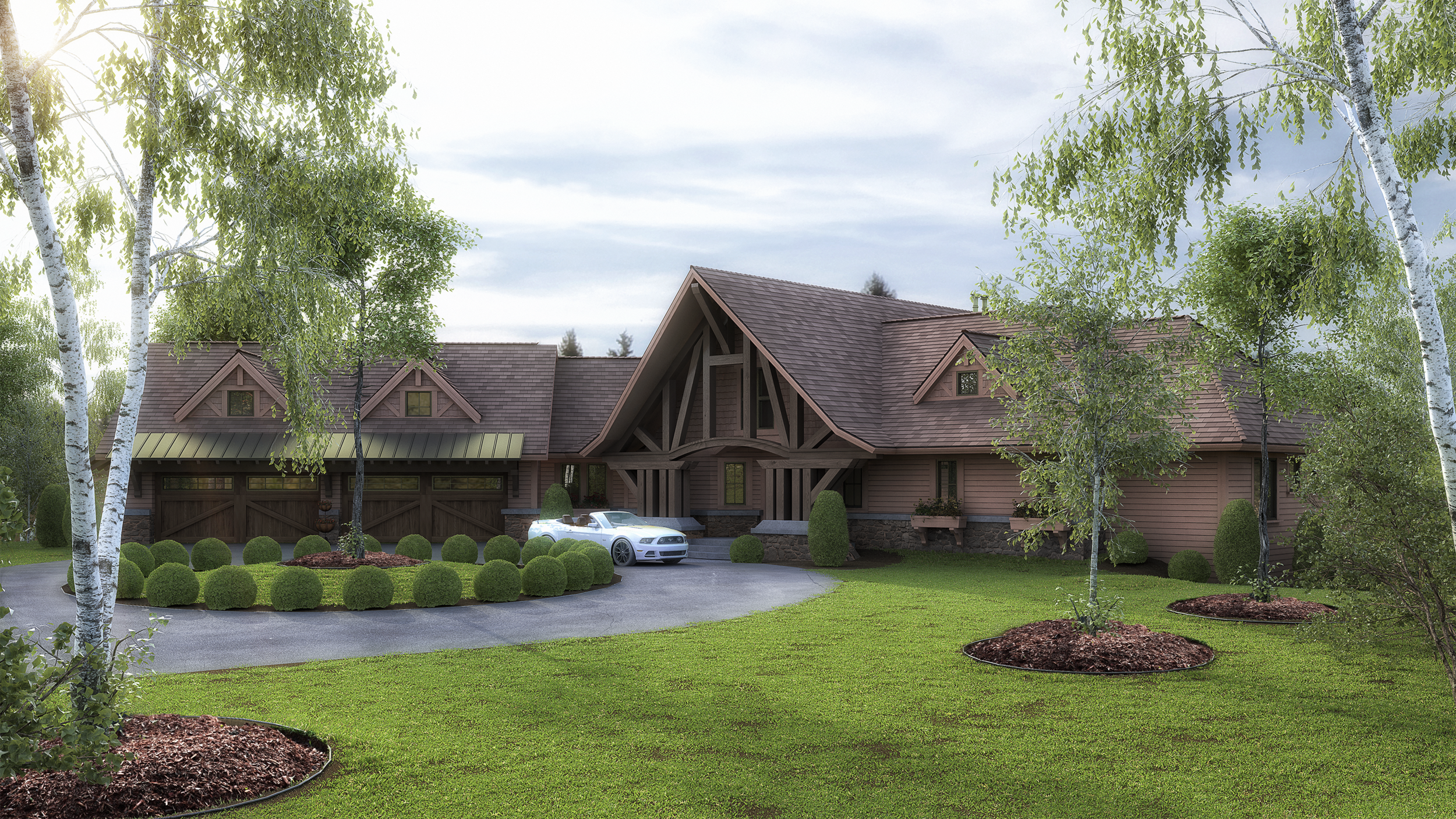 3D Rendering of a Custom Home