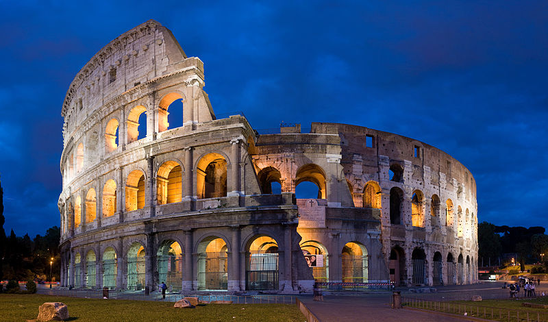 The Colosseum during the blue hour