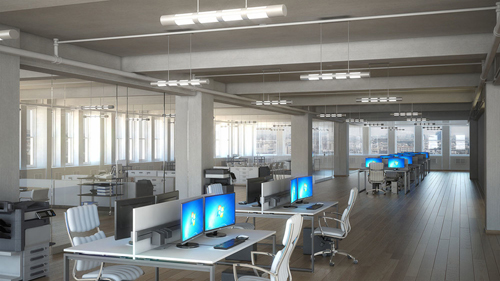Image: 'The Empire Office', Interior Photo-Real Rendering (Bobby Parker)