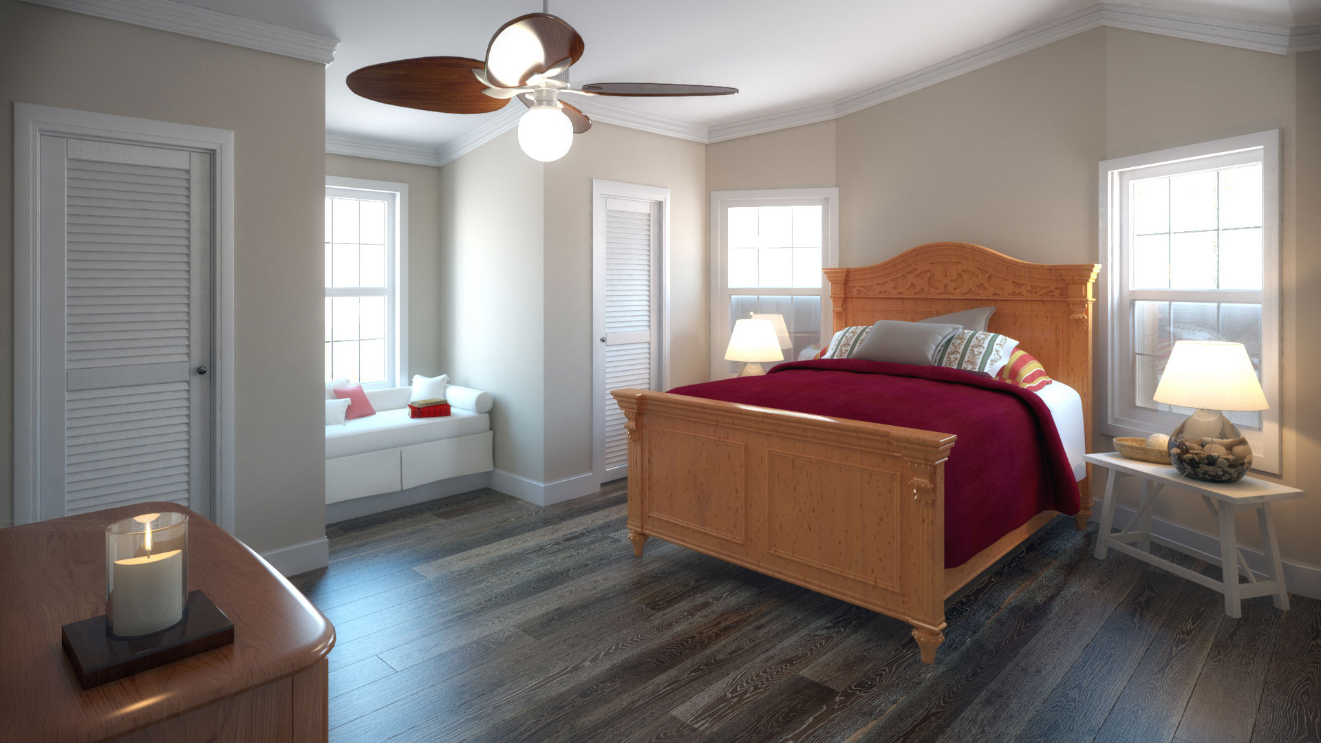Manufactured Home Interior Bedroom Rendering