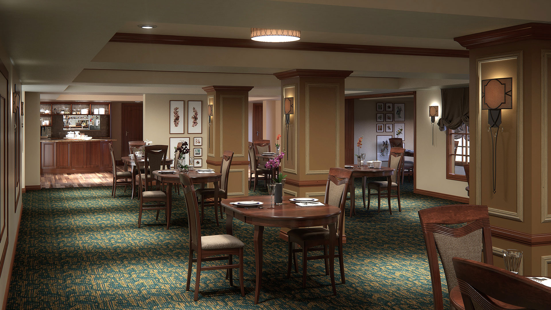 Elder Care Interior Rendering