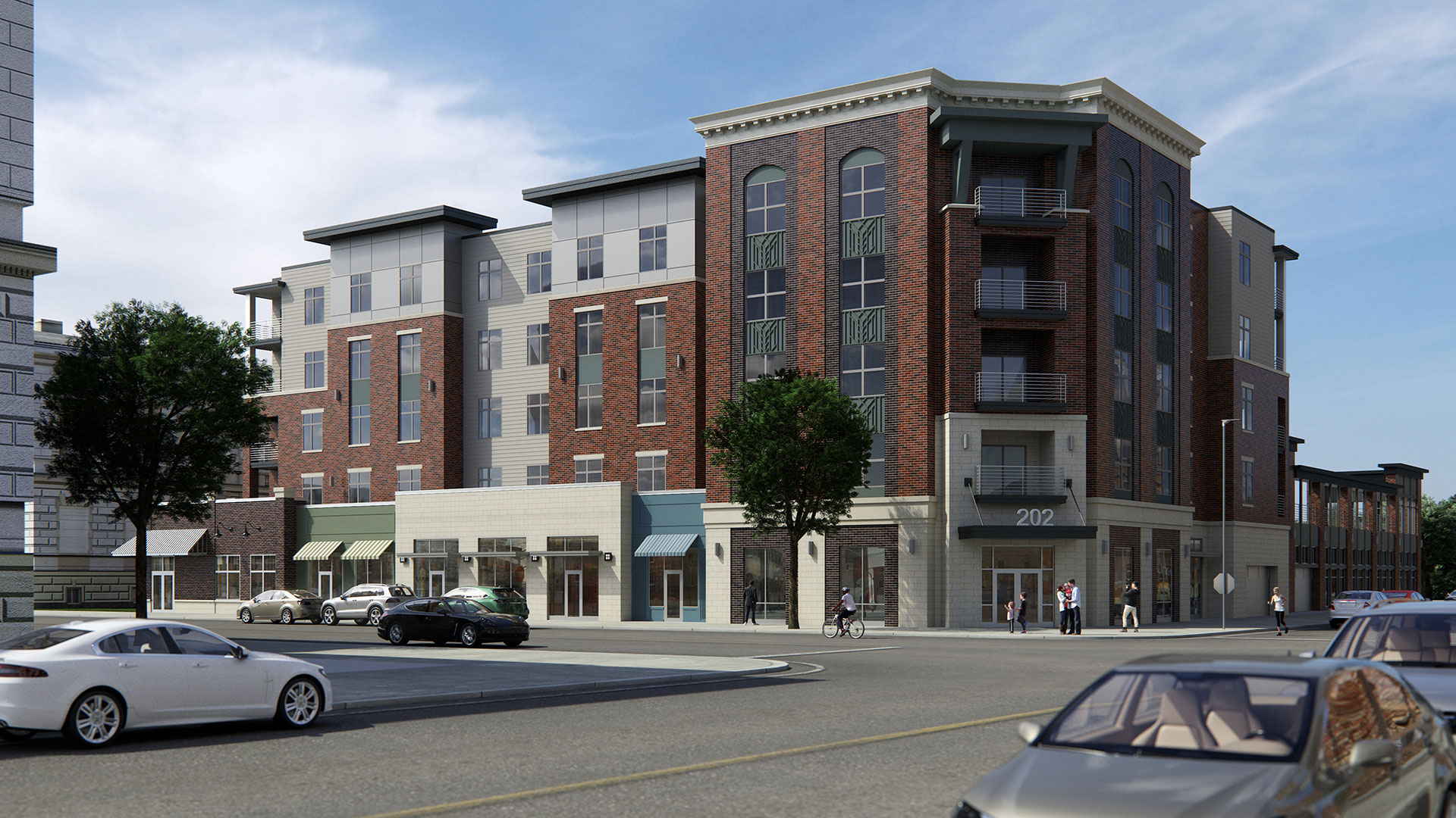 220 Graham Ave Proposed Commercial Rendering