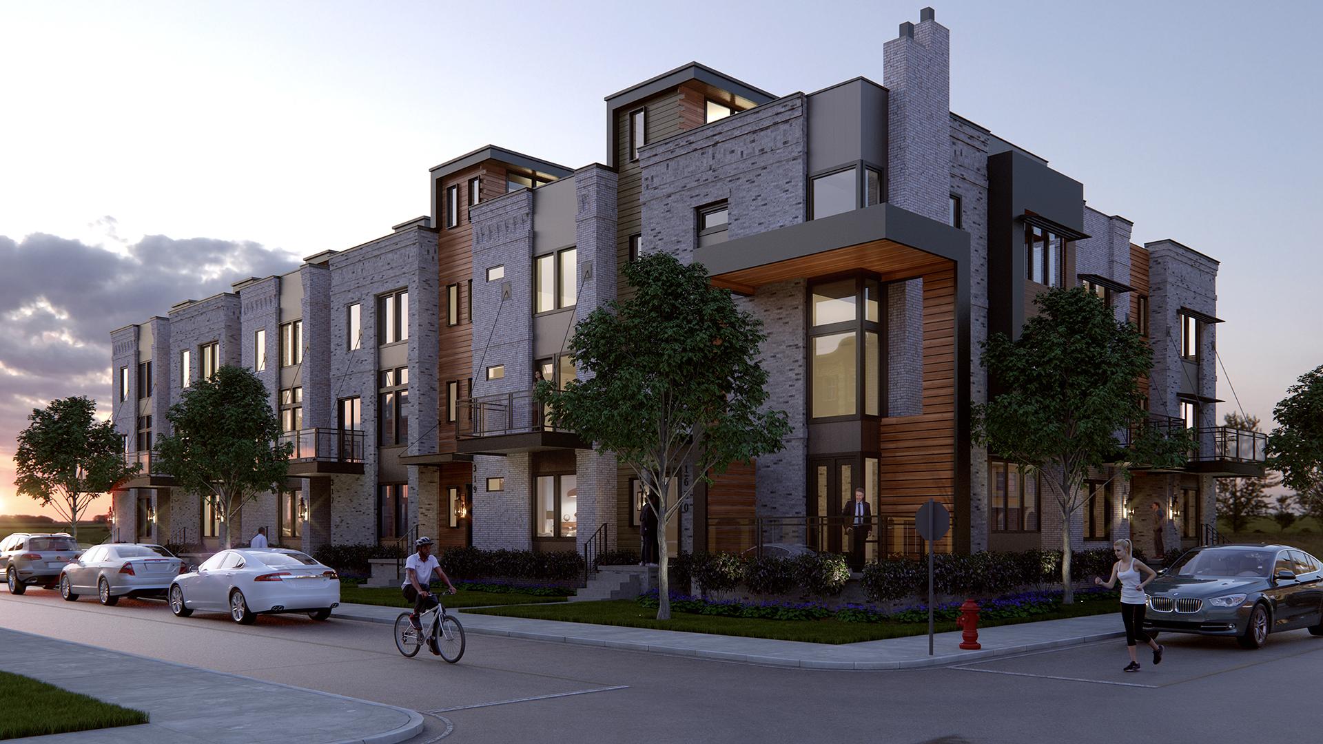 Modern Townhouse Rendering - Nigh