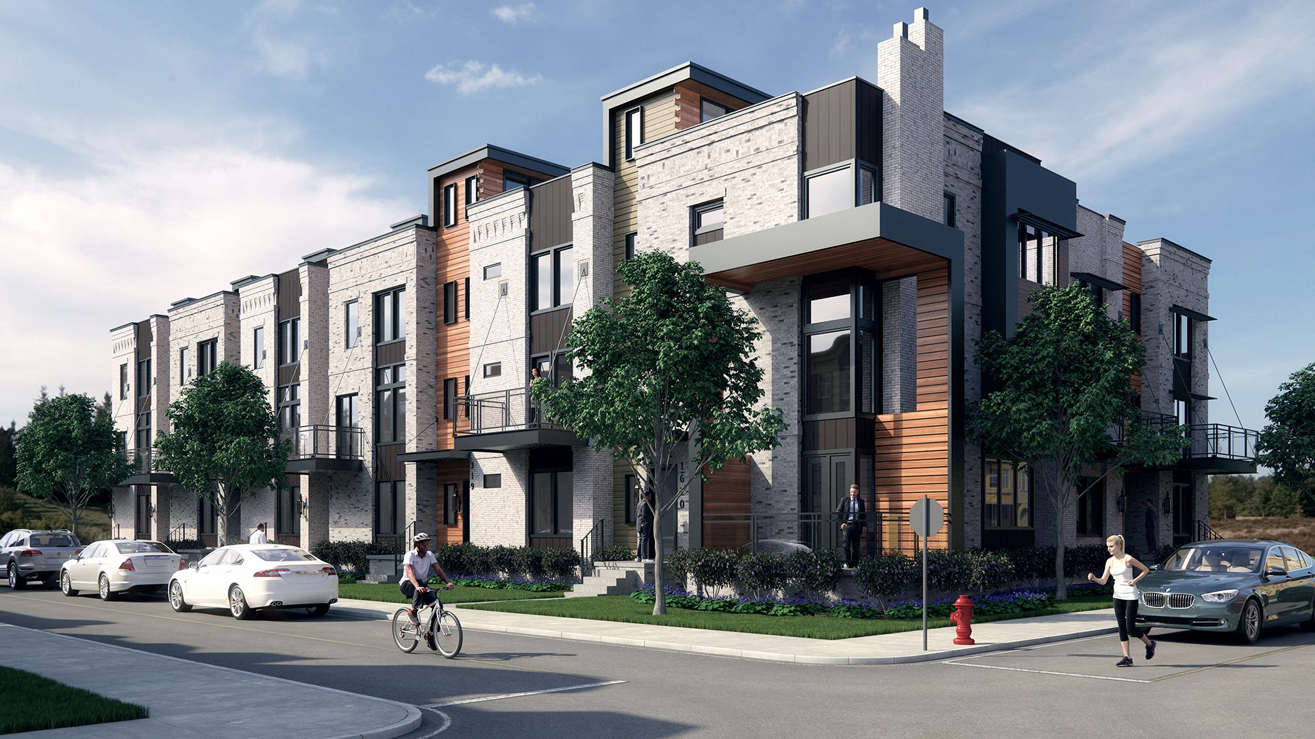 Modern Townhouse Rendering - Day