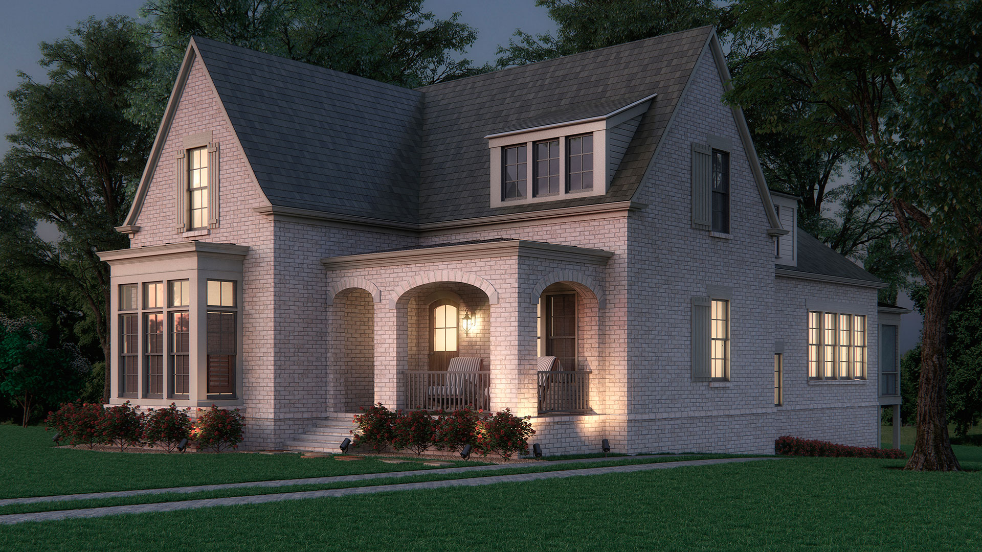 House Architectural Rendering - Day