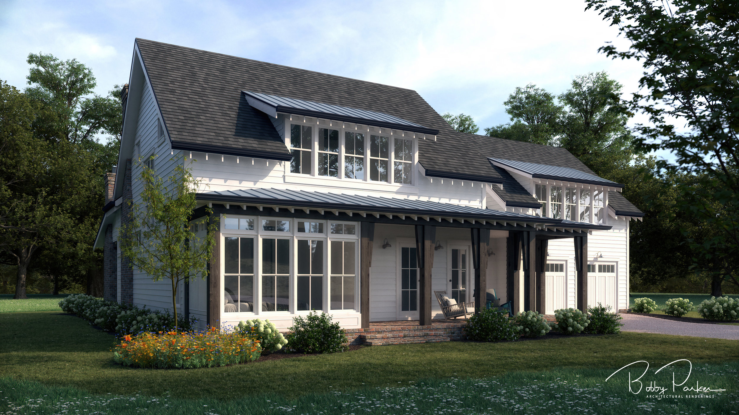 Summer Farmhouse Rendering - Option B