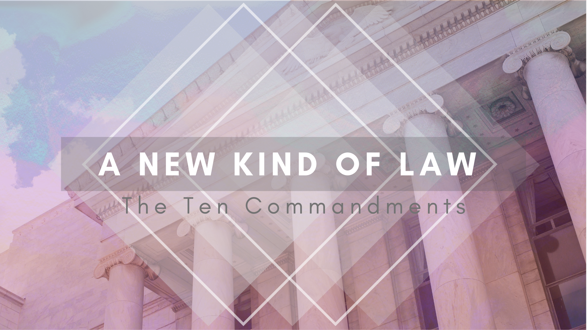 We live in a society that is not too fond of rules; let alone universal rules for how to live. It's no wonder then that Christians look at the Ten Commandments resentfully and/or unattractively. But the truth is: following the Law will lead you to the greatest flourishing possible. Follow along with us as we teach  A New Kind of Law.