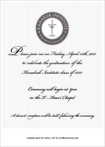 type treatment and logo placement ongraduation invitation
