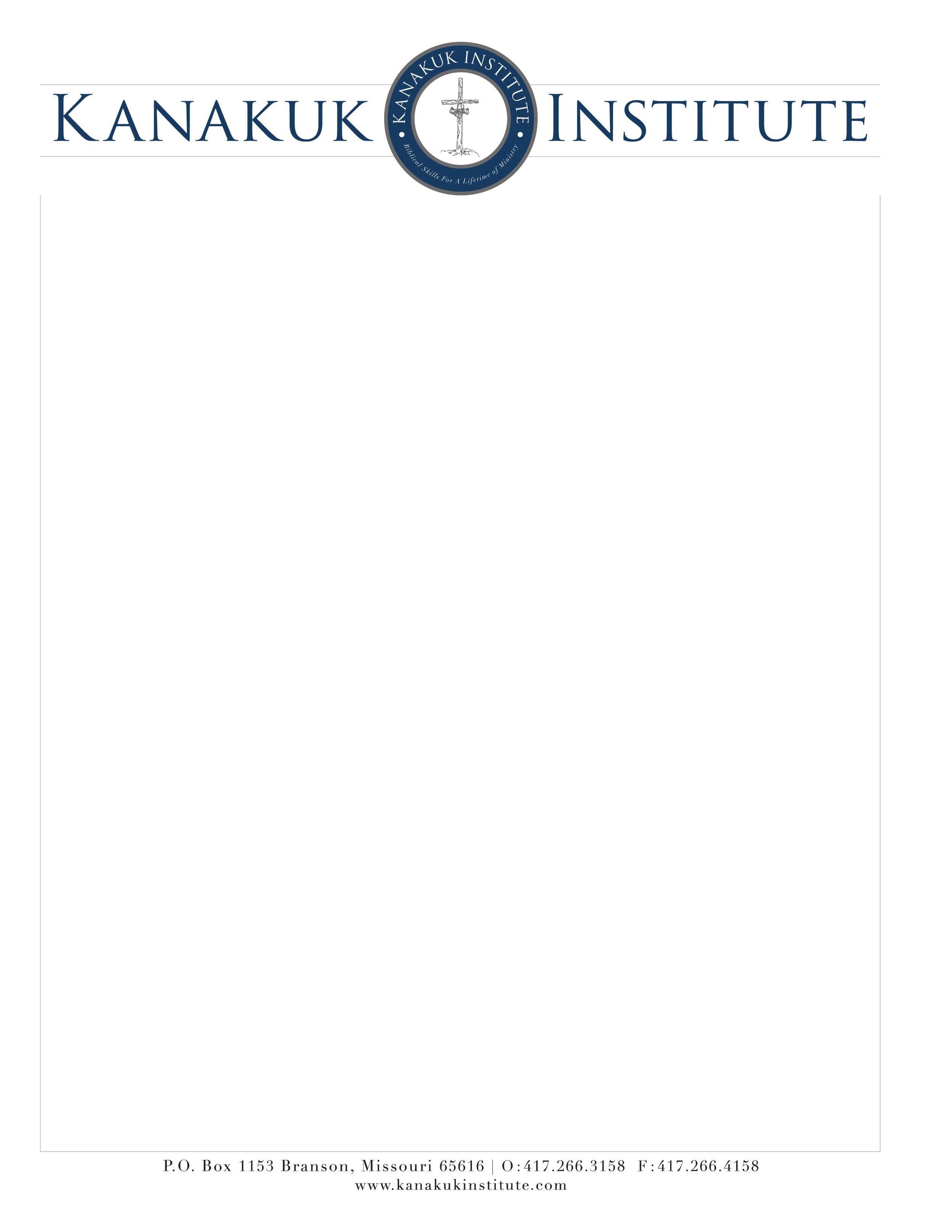 letterhead design and type treatment using new logo