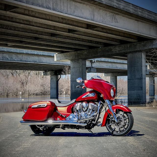 New season, new steed. @indianmotorcycle Ruby Metallic #ChieftainLimited. #Spring #Motorcycles #minnesota