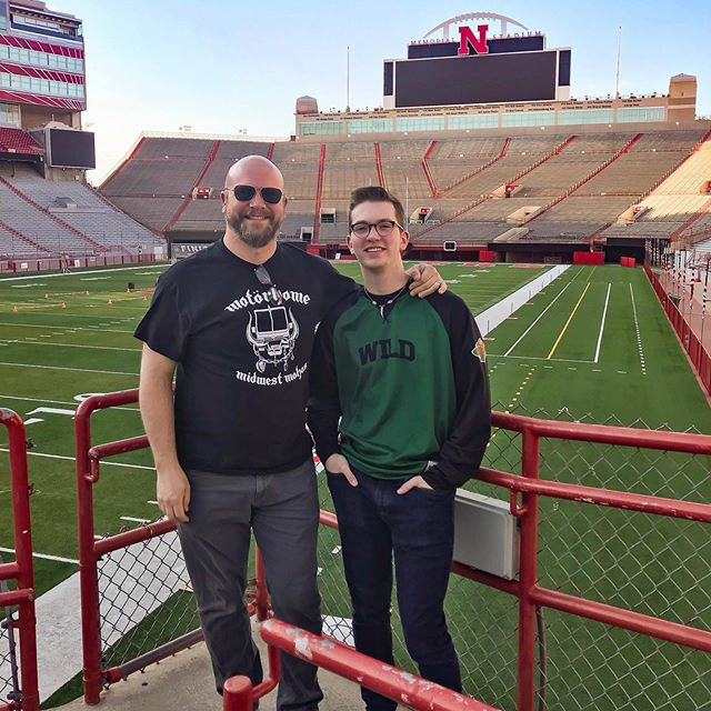 So proud of this kid! We just learned that Willem earned a spot playing tenors with the @unlincoln drumline! The hard work paid off. #proud #marchingband