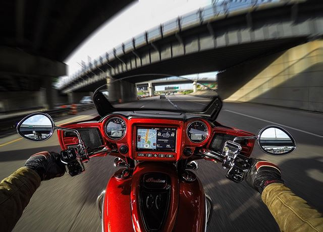 Commute 05/16/19. Mother Nature has been kind to #minnesota this week. So much fun to be back on two. . . . #minnesota #motorcycles #ChieftainLimited #indianmotorcycle #gopro