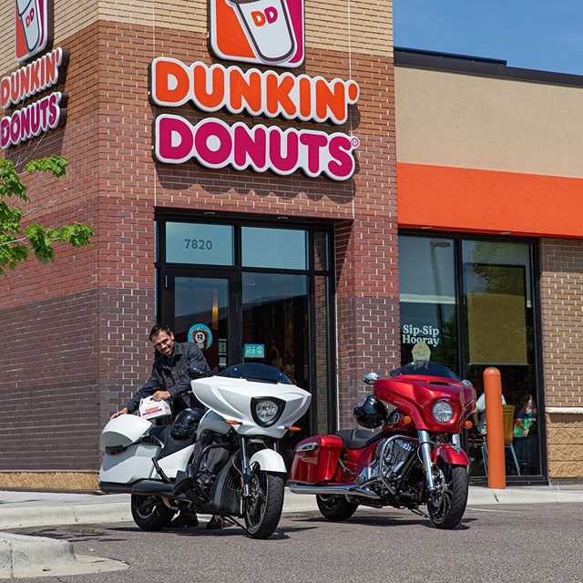 Because donuts. #nationaldonutday #candycanegang #indianmotorcycle #victorymotorcycles #PolarisStudio