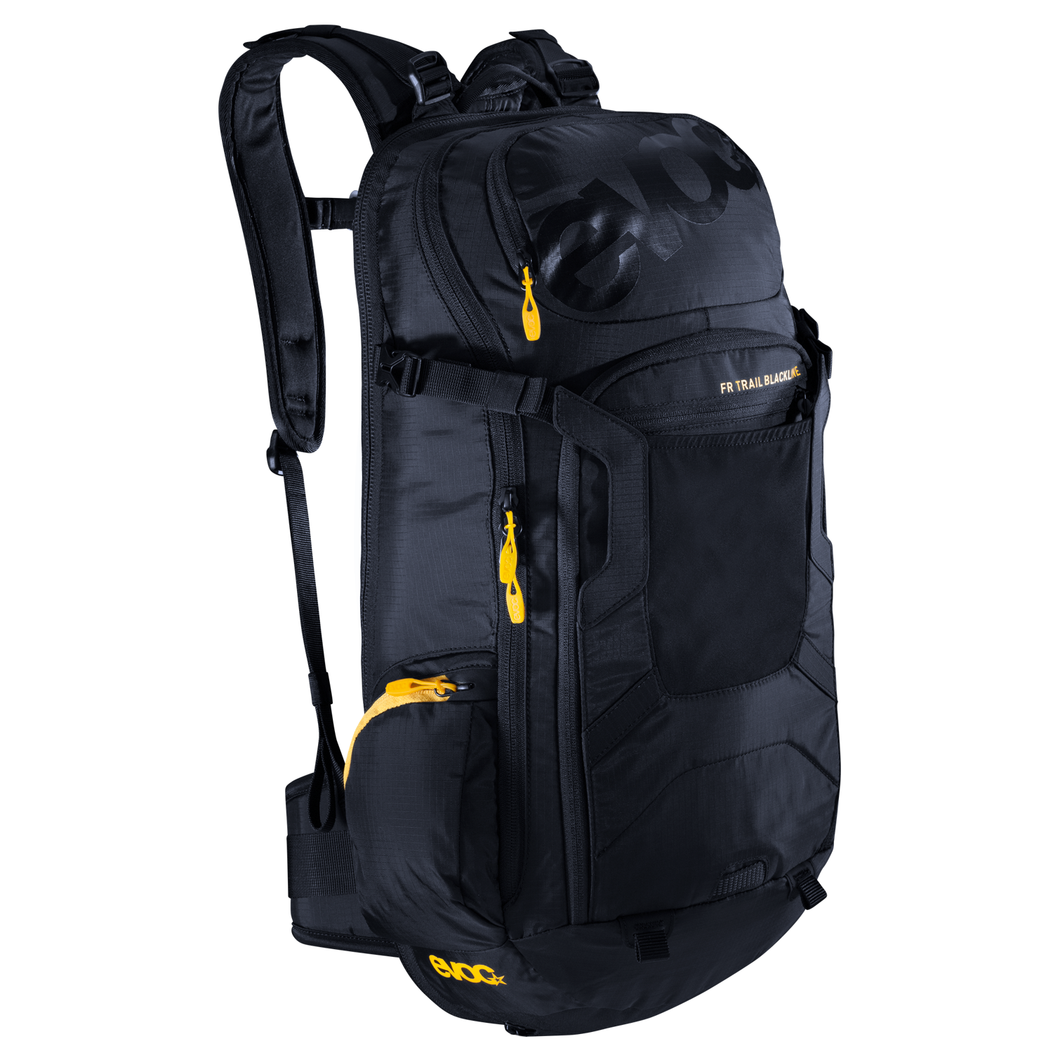 FR TRAIL BLACKLINE 20l - The EVOC FR TRAIL BLACKLINE is a high-end day pack with a back protector that offers optimal support during longer bike tours and trail rides.