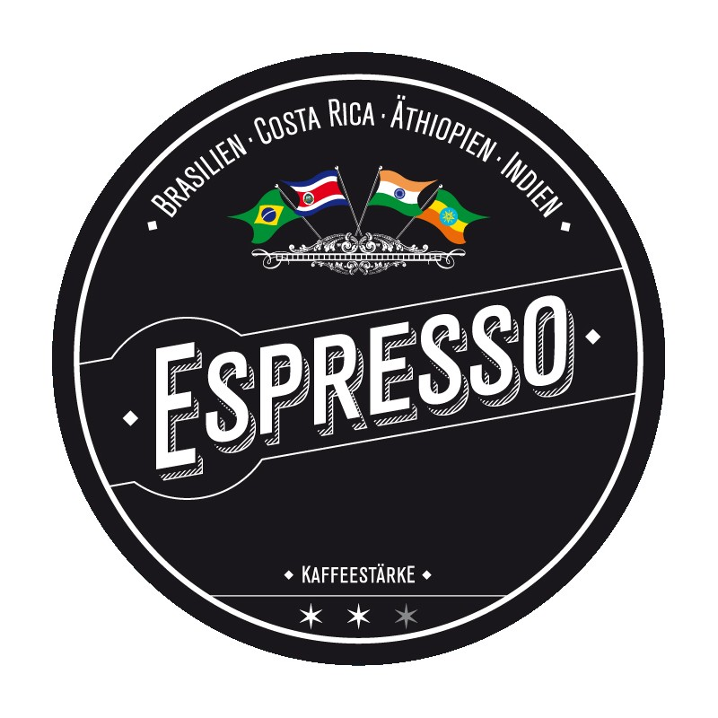 ESPRESSO - Mild and aromatic is their espresso blend. Best coffees from 4 continents give this acid-poor mixture the incomparable taste.
