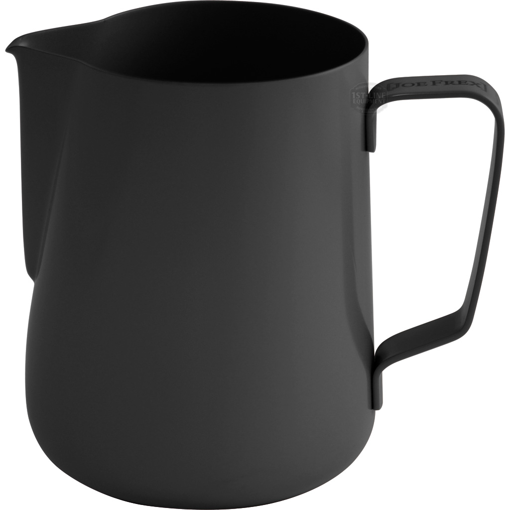 MILK PITCHER BLACK - Milk pitcher made of stainless steel with black powder coating. For easy frothing and cleaning. 350ml & 590ml.