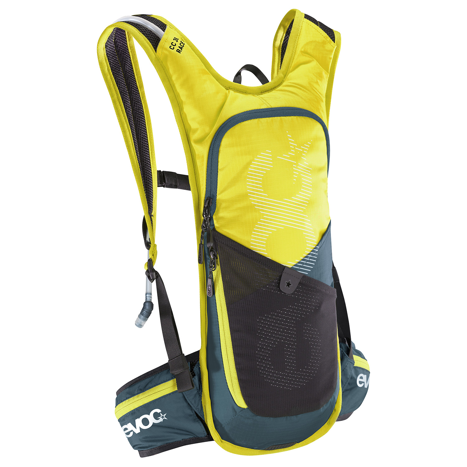EVOC CC 3l RACE - The EVOC CC 3l RACE backpack has been specially designed for endurance bike races. Ultra-lightweight and minimalist.
