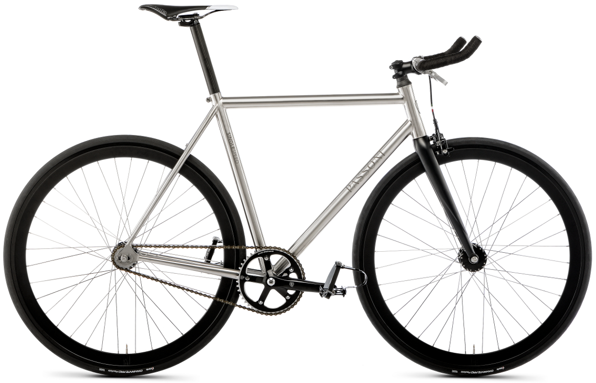 SINGLE SPEED - Dynamic, free, minimal-looking titanium frame, reduced to the essentials.