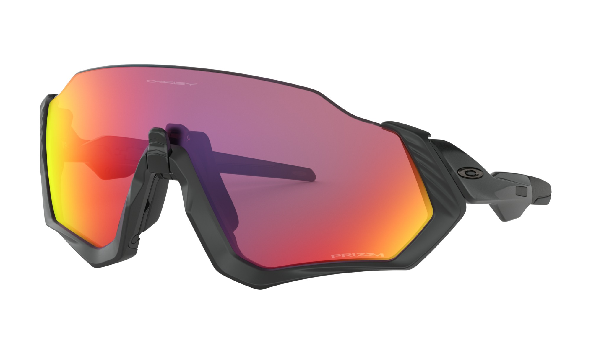 FLIGHT JACKET PRIZM ROAD - An open-edge brow maximizes the upper field of view, and our new Advancer nose bridge instantly opens airflow to combat fogging and overheating.