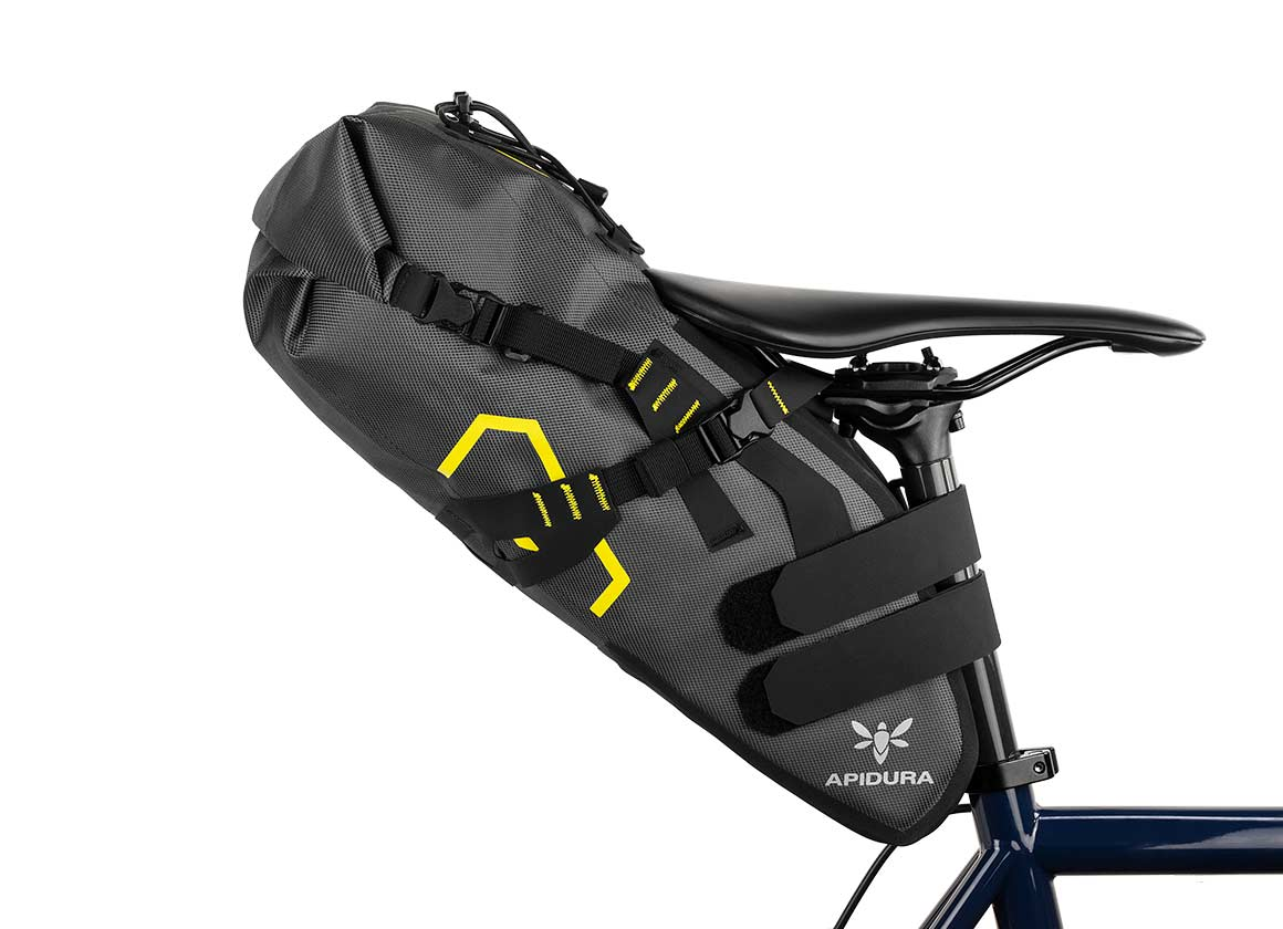 EXPEDITION SADDLE PACK 17L - The Expedition Saddle Pack is lightweight, waterproof, and provides a spacious compartment under the saddle, eliminating the need for a rear rack.