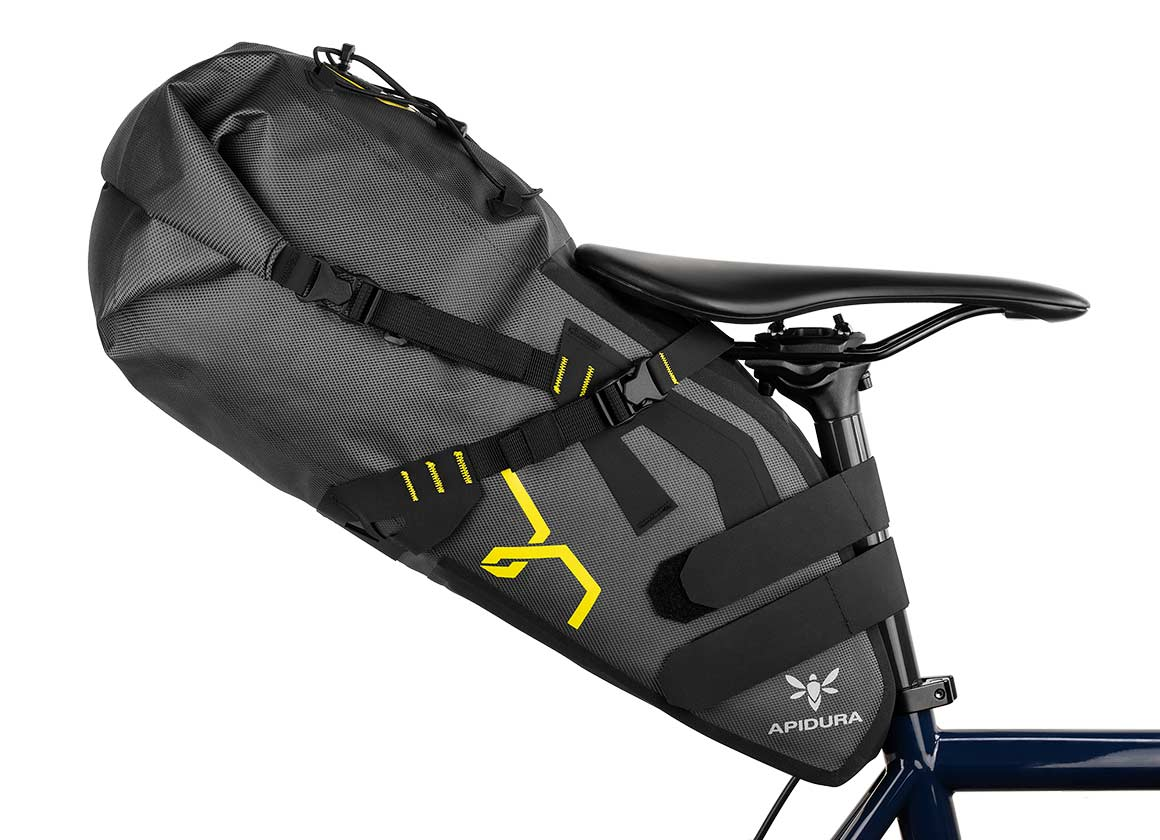 EXPEDITION SADDLE PACK 14L - The Expedition Saddle Pack is lightweight, waterproof, and provides a spacious compartment under the saddle, eliminating the need for a rear rack.