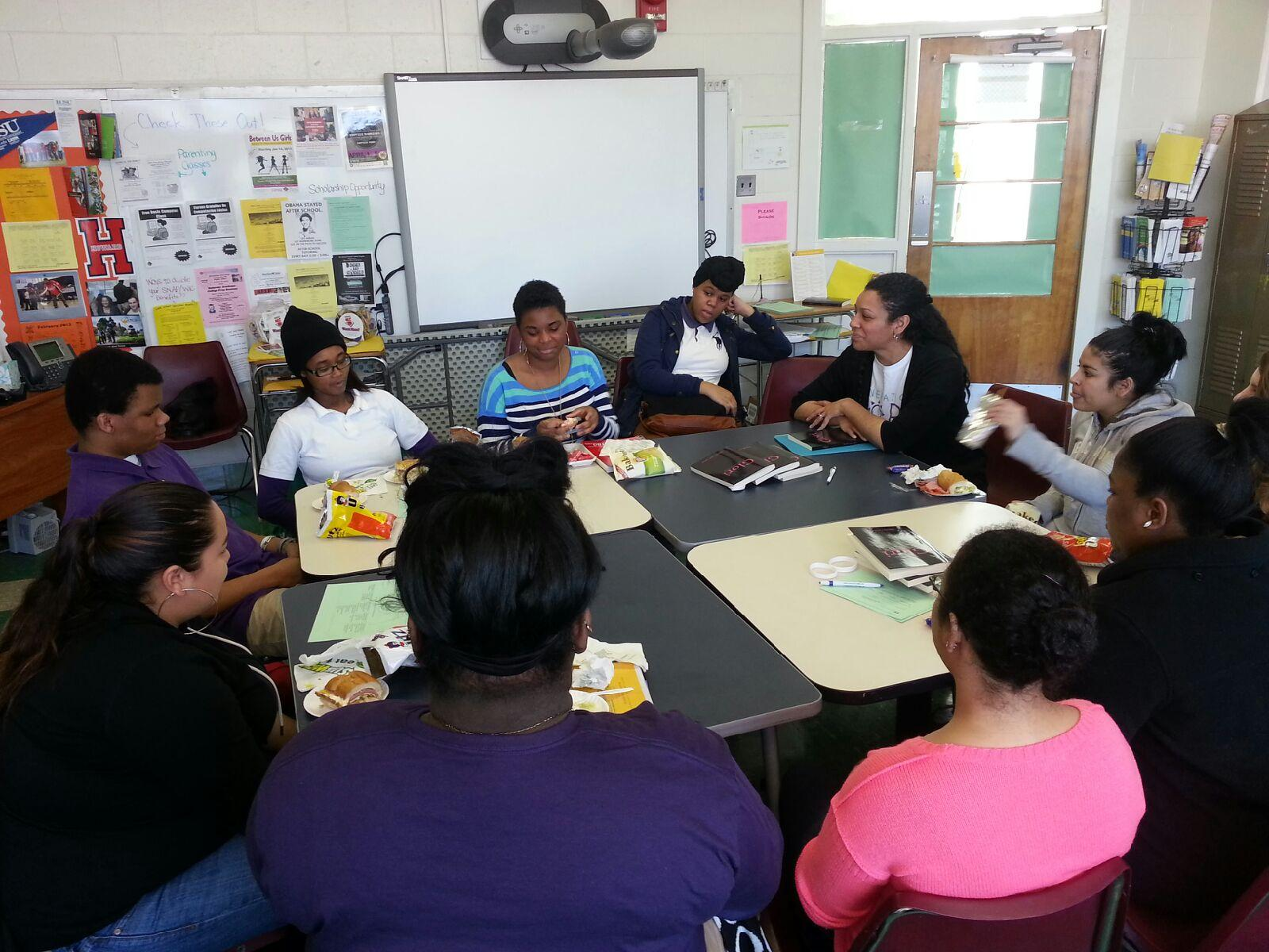 Founder & CEO Nicole Lynn Lewis presenting a workshop at Cardozo High School in D.C. -- a New Heights site.
