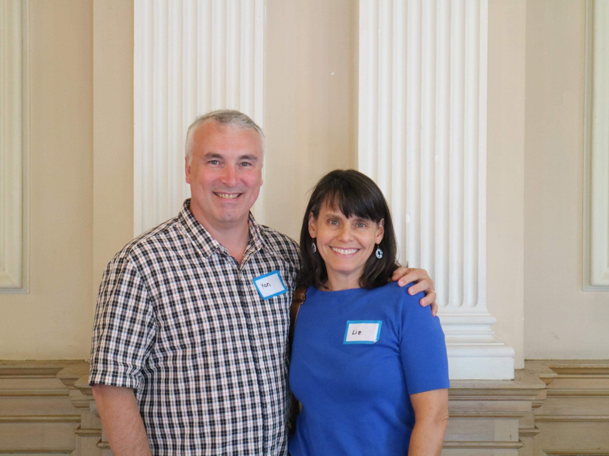 Ken Scalet and Liz Sadove