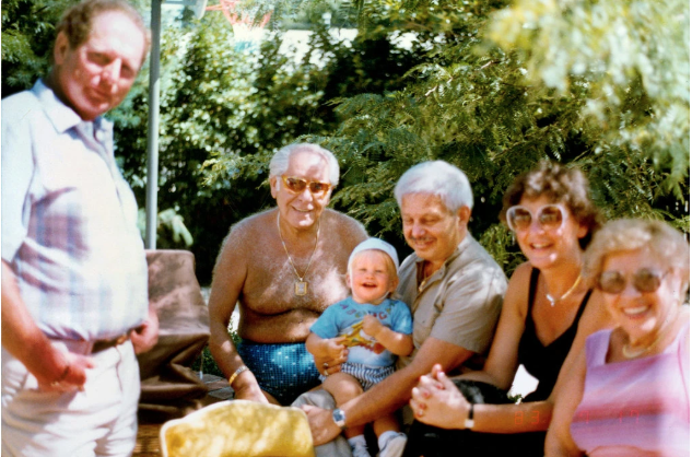 Roman Blum, shirtless, at a birthday party on Long Island in 1983. In 1949, he and his wife, Eva, moved to Forest Hills, Queens, where they joined a tightknit community of Holocaust survivors.CreditCreditCollection of Charles Goldgrub