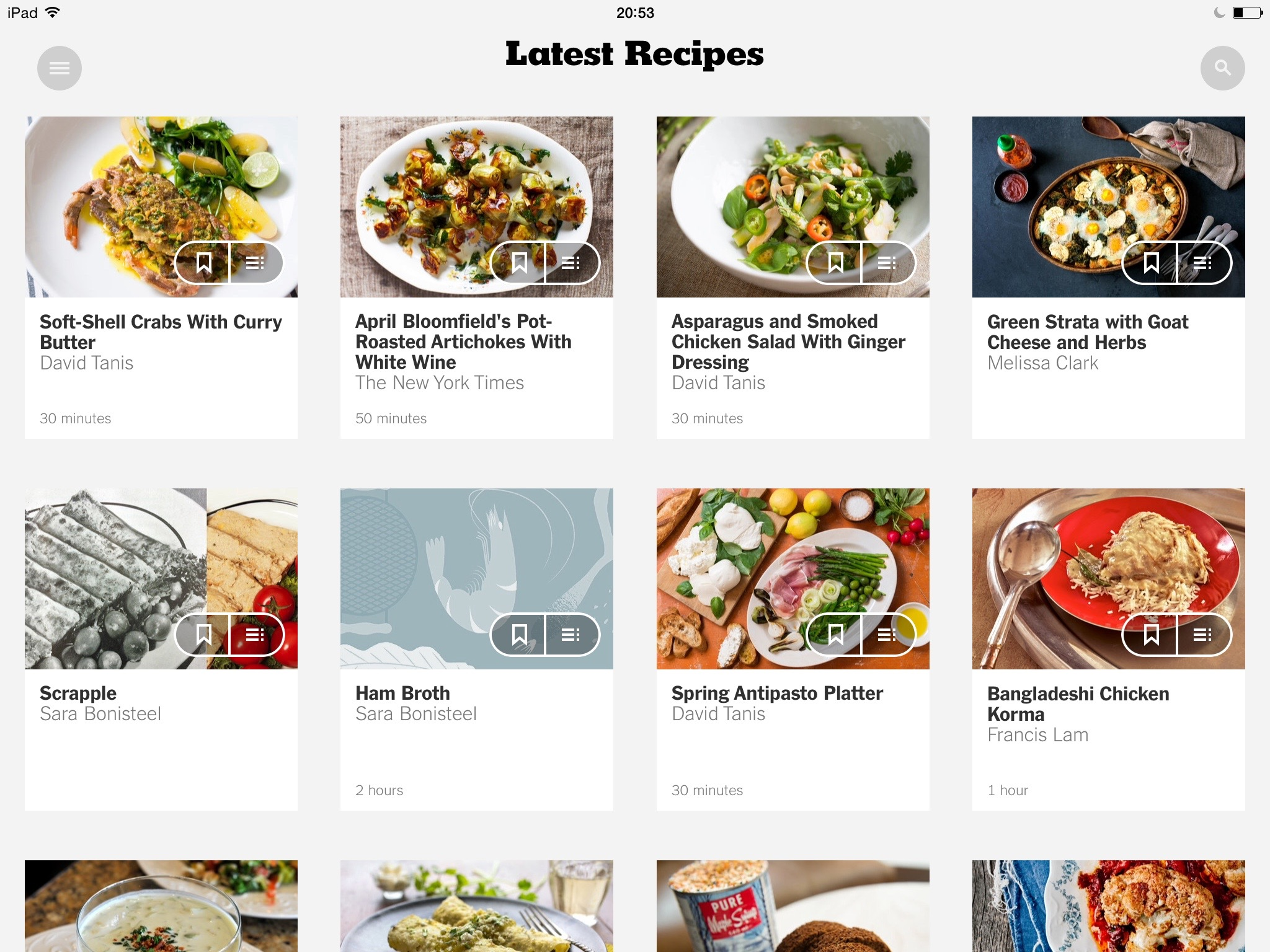 New York Times Recipes