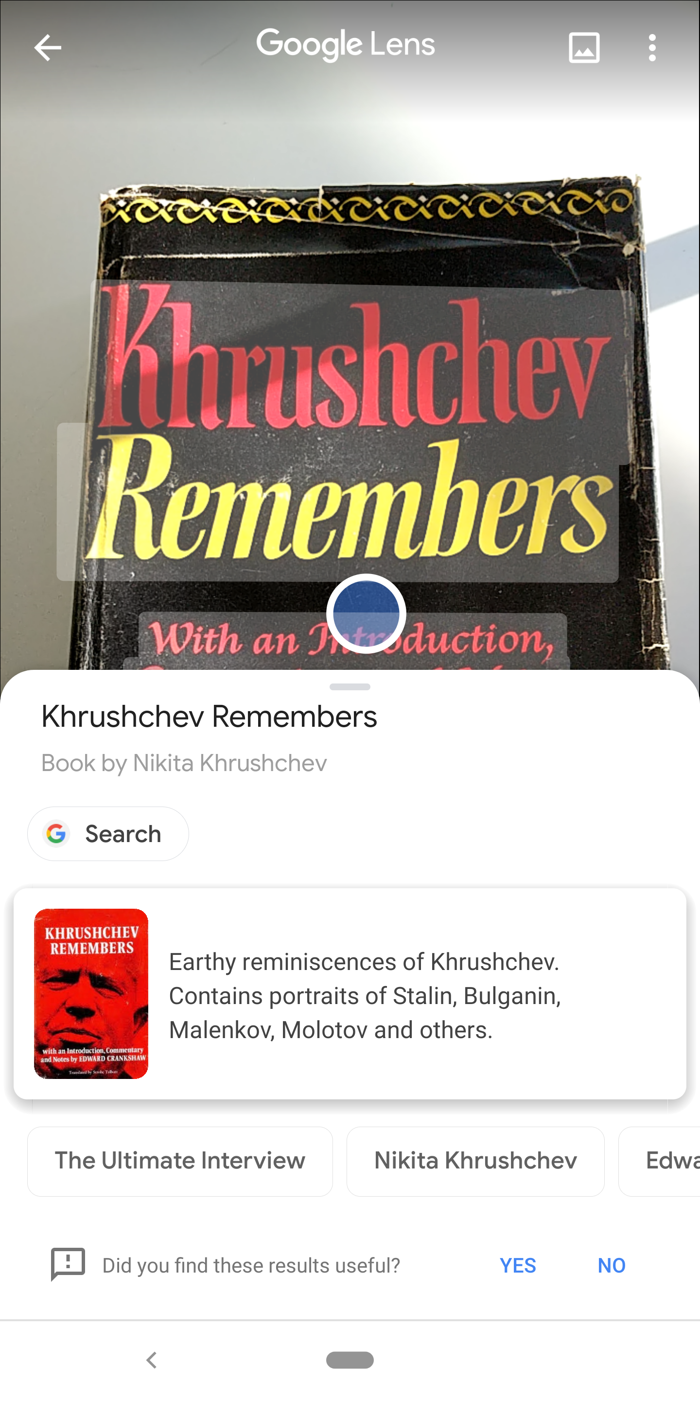 Yes, this is 'Khrushchev Remembers'