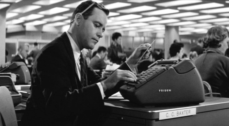 杰克柠檬作为'CC Baxter'在公寓,1960年。